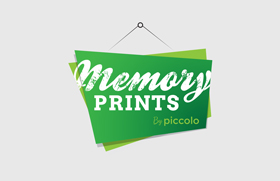 Memory Prints by Piccolo Logo Design